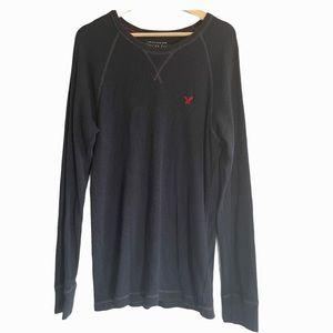 American Eagle legend thermal vintage fit black